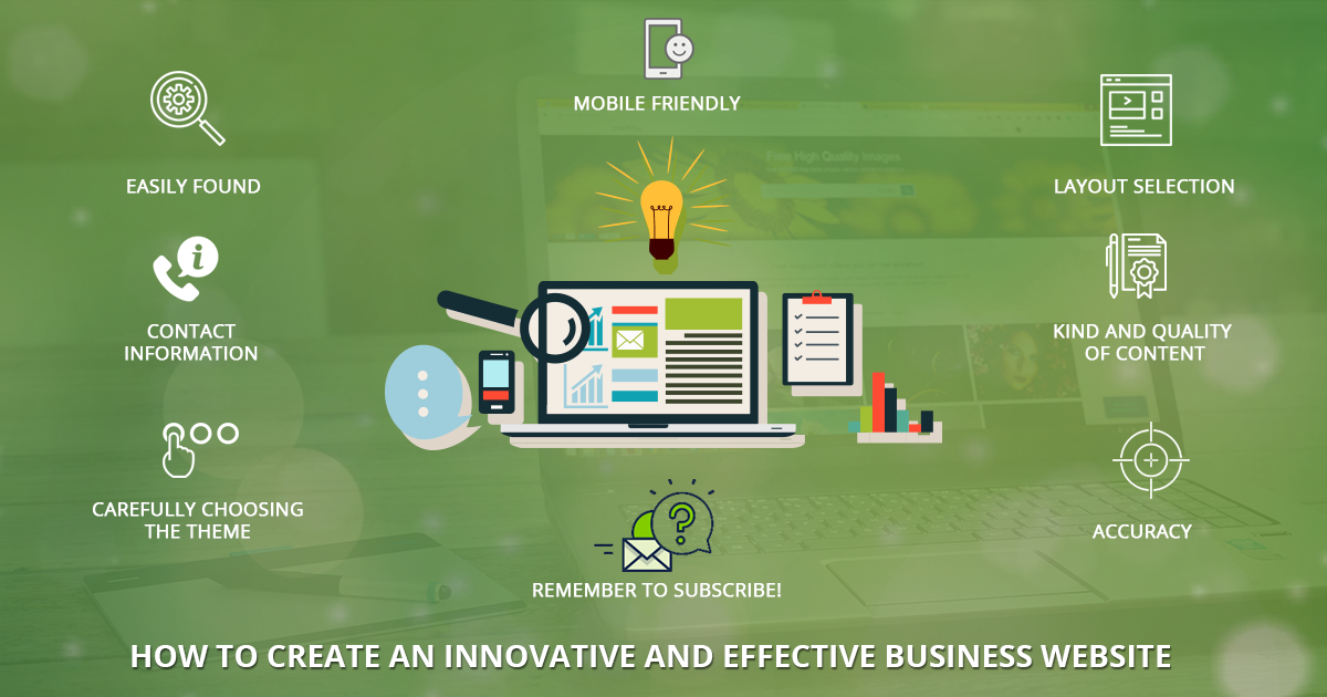 HOW TO CREATE AN INNOVATIVE AND EFFECTIVE BUSINESS WEBSITE