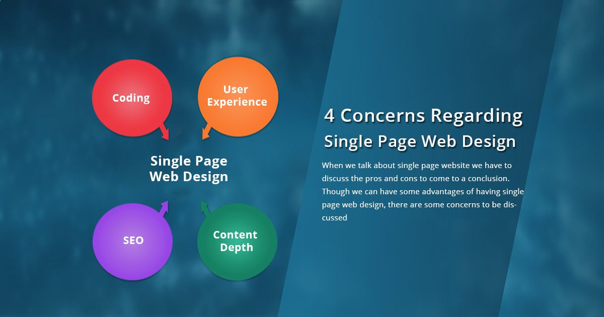 4 Concerns Regarding Single Page Web Design
