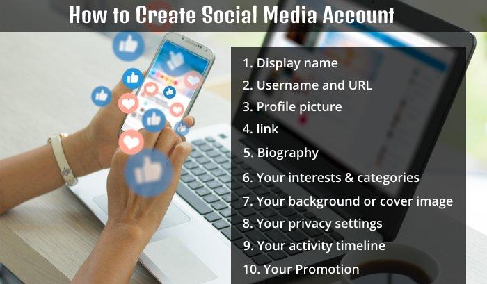 how to create social media account